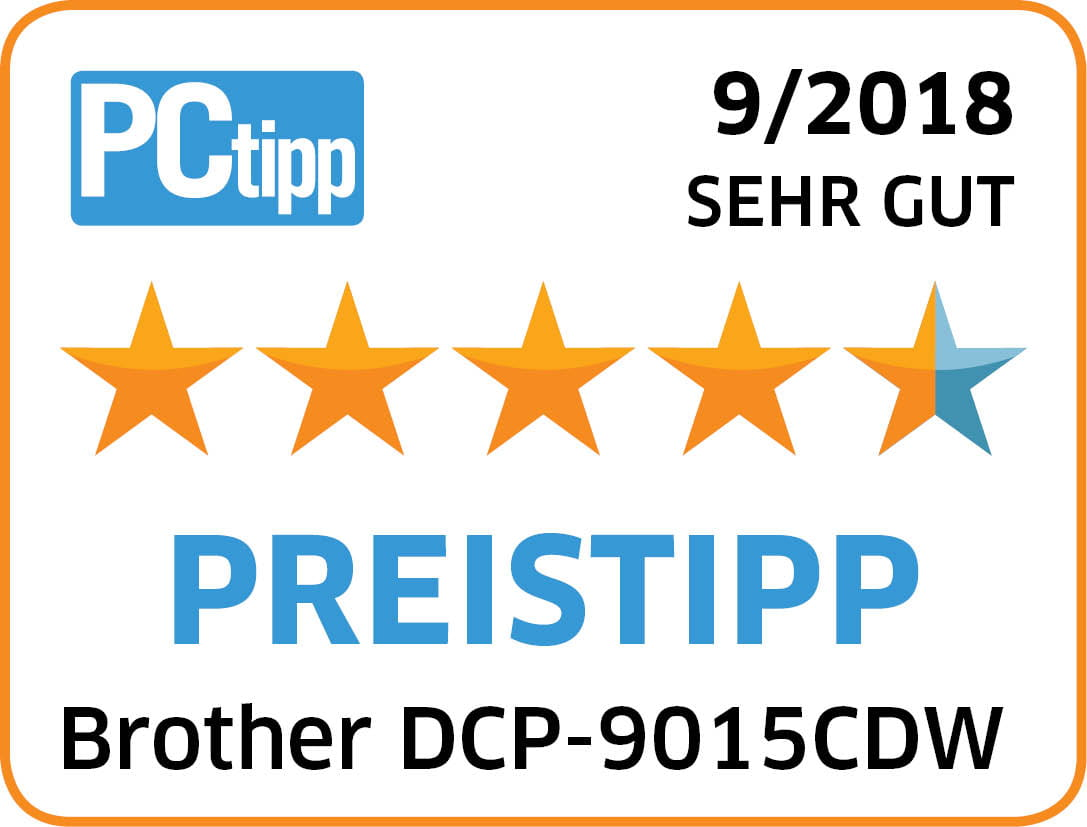 4_5 Sterne_PREISTIPP_Brother DCP-9015CDW_ 08_2018