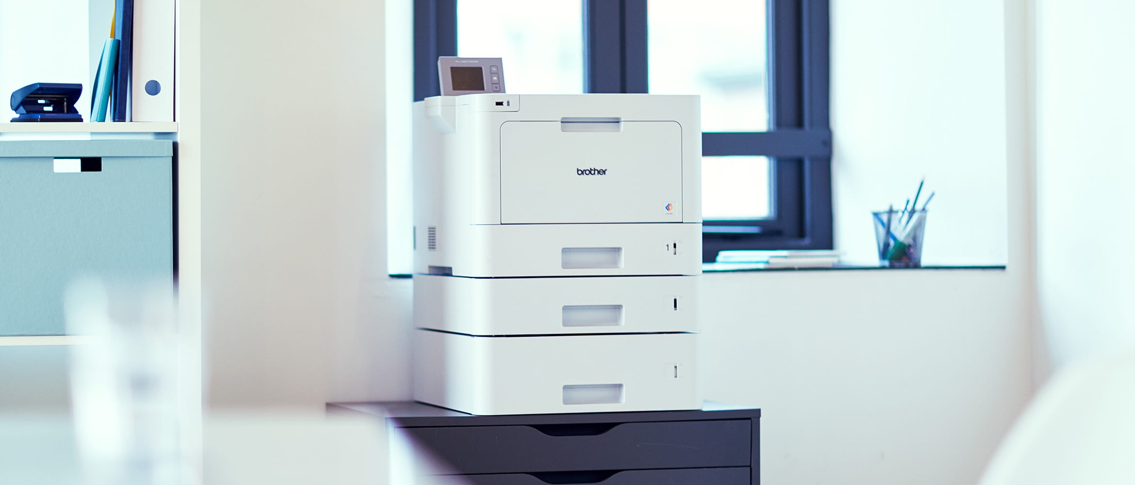 White Brother Workgroup Printer in office