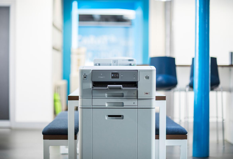 Brother HL-J6000DW inkjet printer in office setting