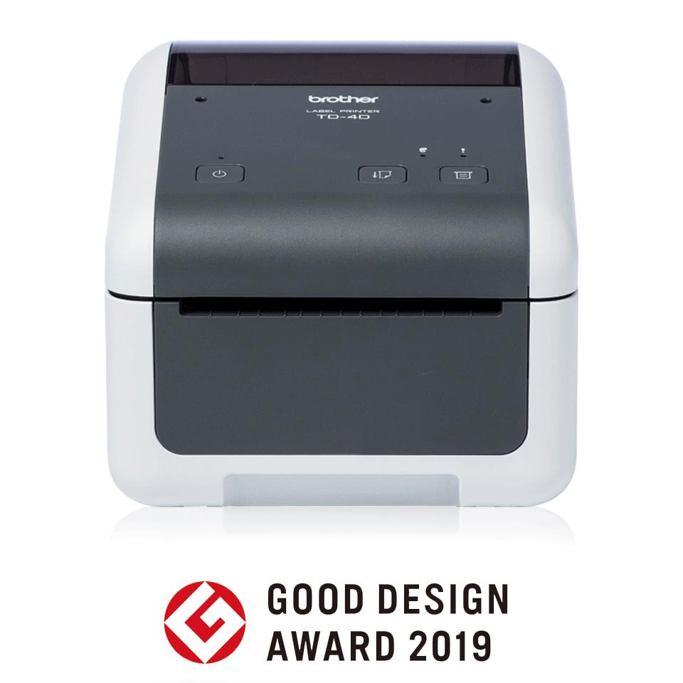 Brother TD-4410D desktop label printer front shot