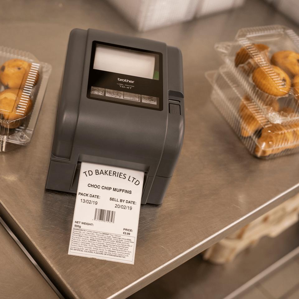 Imprimante d'étiquettes de bureau à transfert thermique Brother TD-4420TN 8