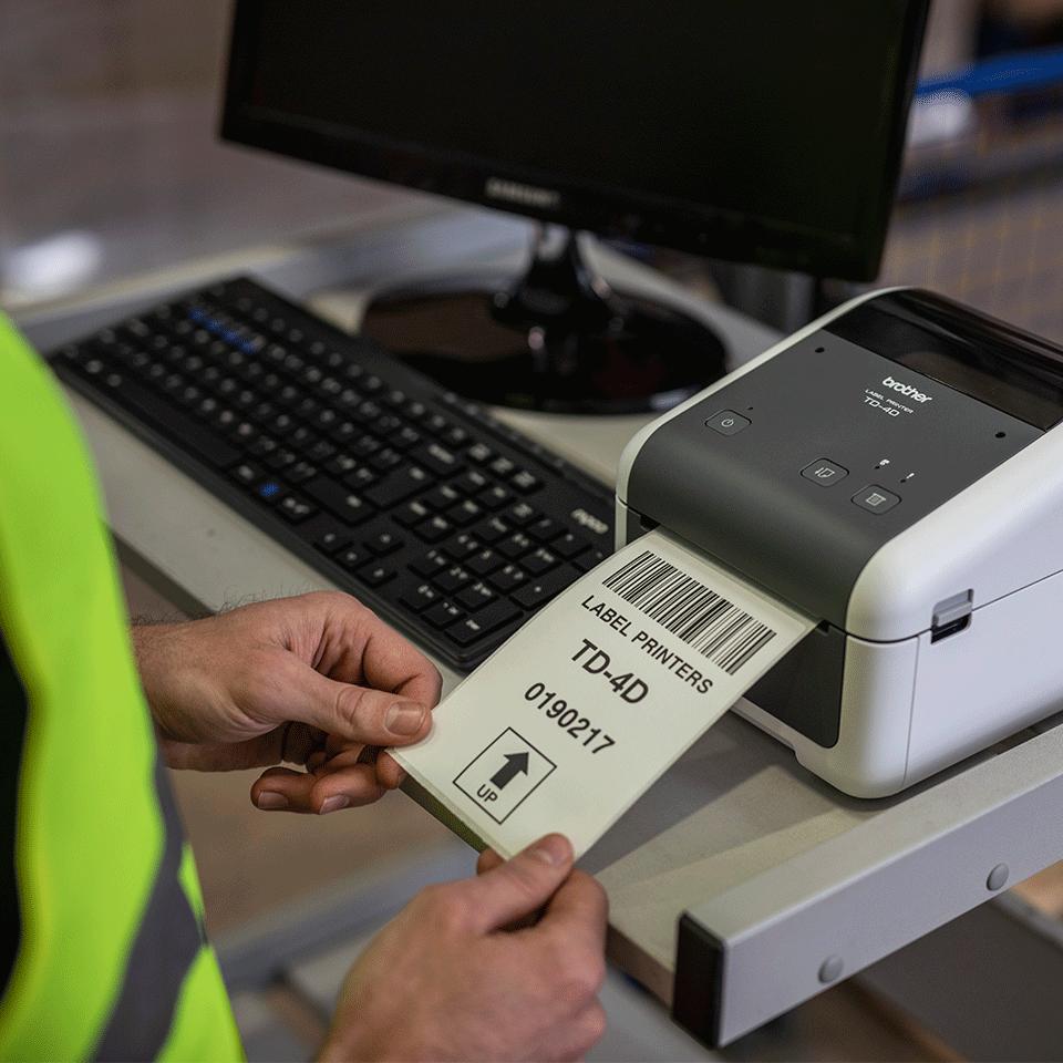 TD-4520DN Imprimante d'étiquettes de bureau professionnelle 5