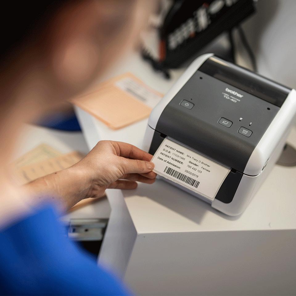 TD-4520DN Imprimante d'étiquettes de bureau professionnelle 6