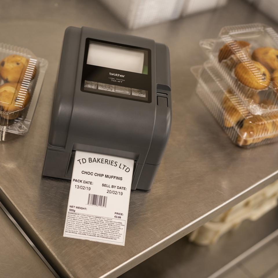 Imprimante d'étiquettes de bureau à transfert thermique Brother TD-4520TN 8