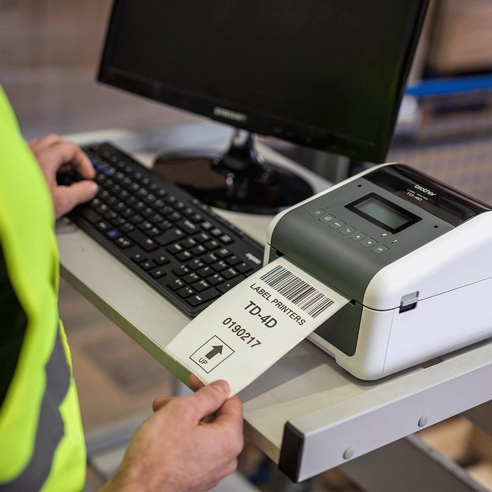 TD-4550DNWB Imprimante d'étiquettes de bureau professionnelle 7