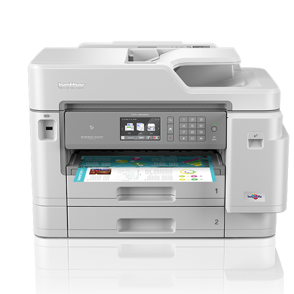 MFC-J5945DW kabelloser 4-in-1 DIN A3 Tintenstrahl-Farbdrucker