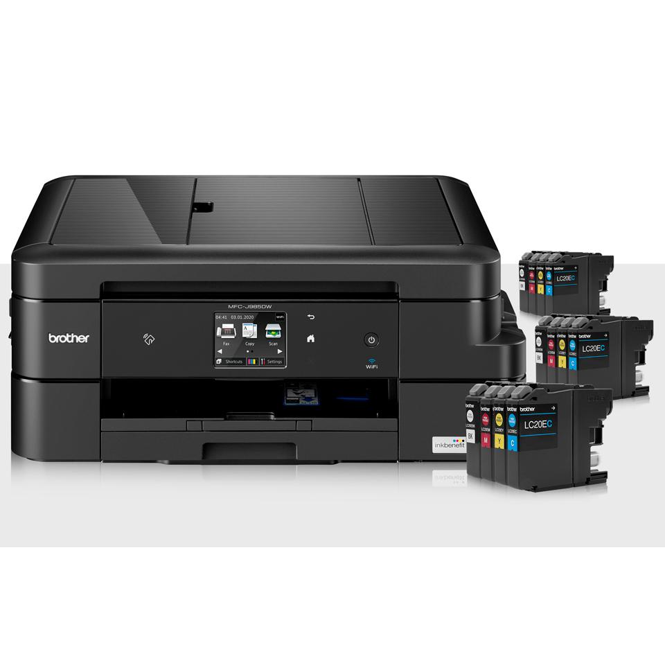 MFC-J985DW XL-Bundle mit All-in-One-Drucker und 12 Patronen