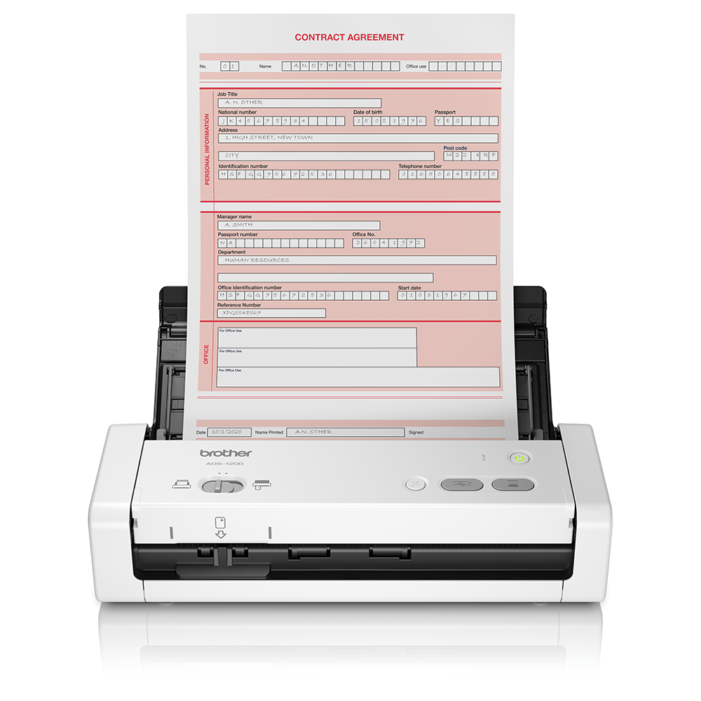 Portabler und kompakter ADS-1200 Dokumentenscanner