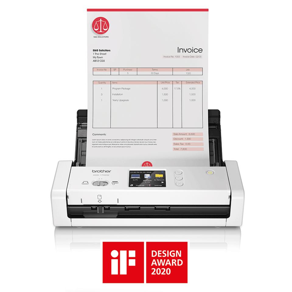 ADS-1700W Smarter und kompakter Dokumentenscanner 4