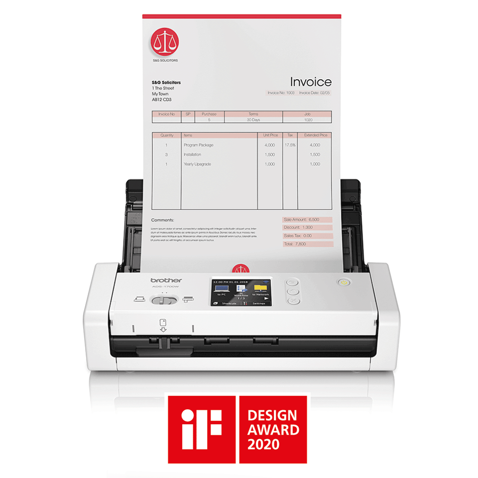 ADS-1700W Scanner de documents compact et intelligent 4