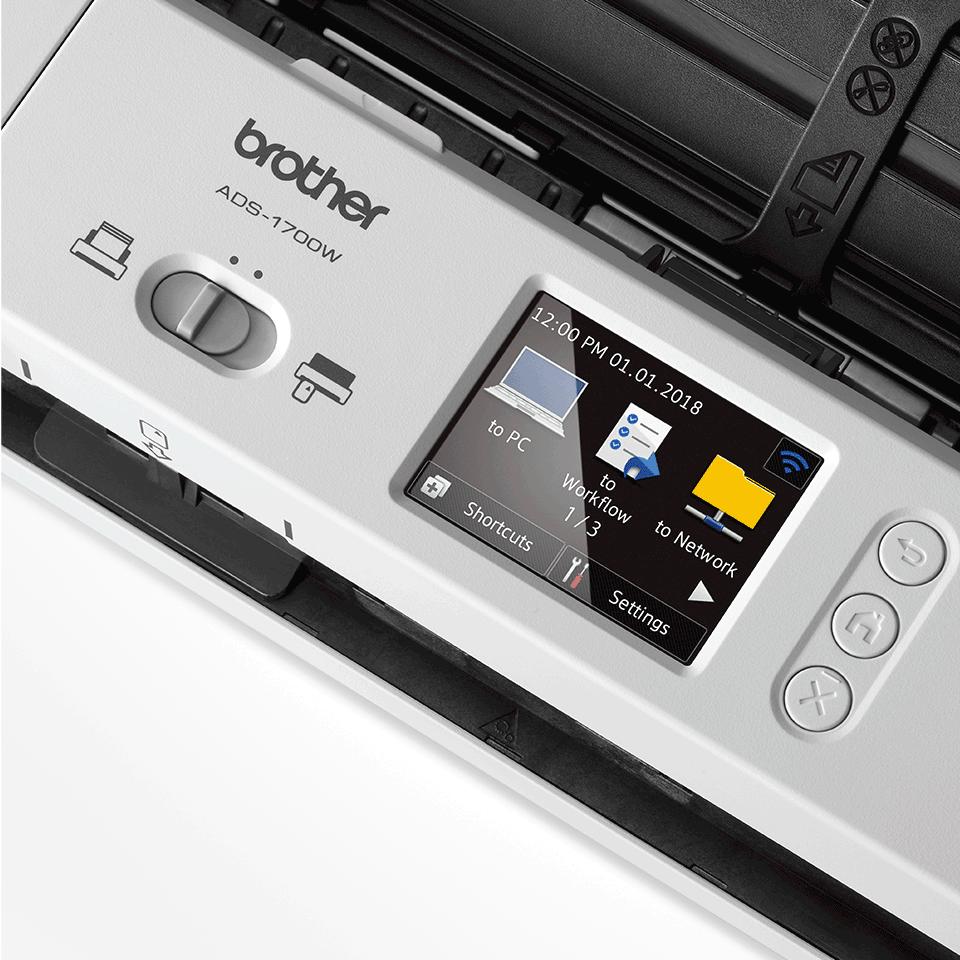 Smarter und kompakter ADS-1700W Dokumentenscanner 8