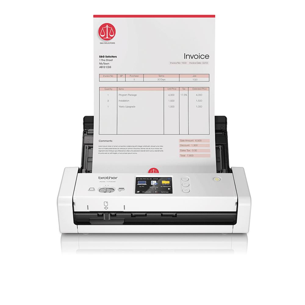 Scanner de documents compact et intelligent ADS-1700W