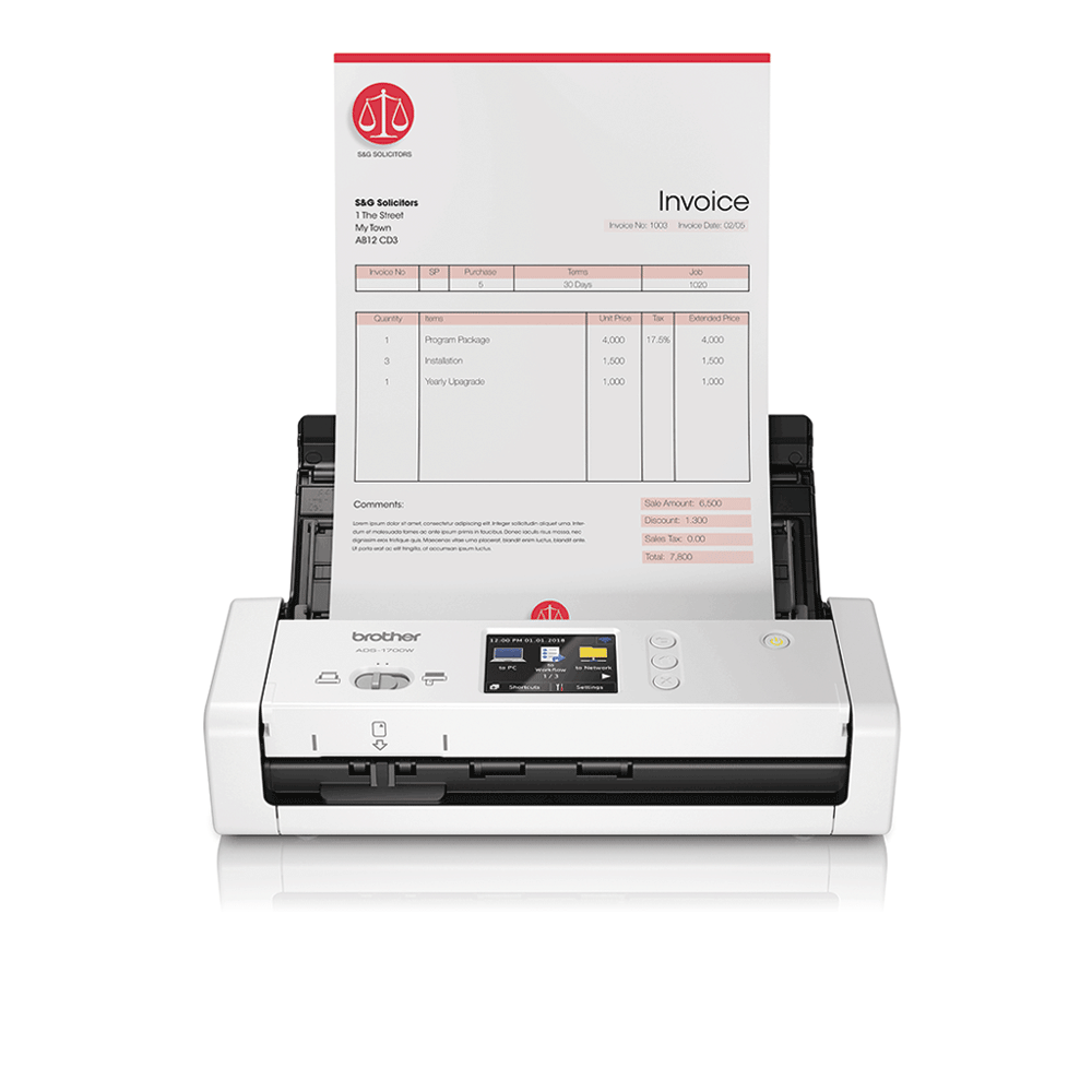 ADS-1700W Scanner de documents compact et intelligent