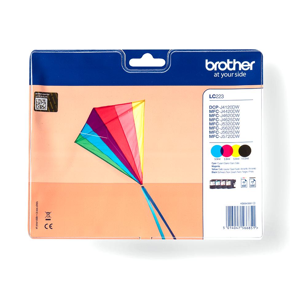 Original LC-223VALBP Tintenpatronen von Brother – Multipack