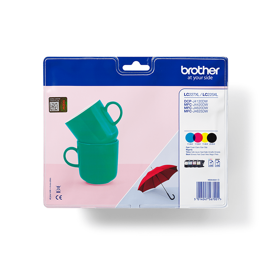 Original LC-227XLVALBP High Yield Tintenpatronen von Brother – Multipack