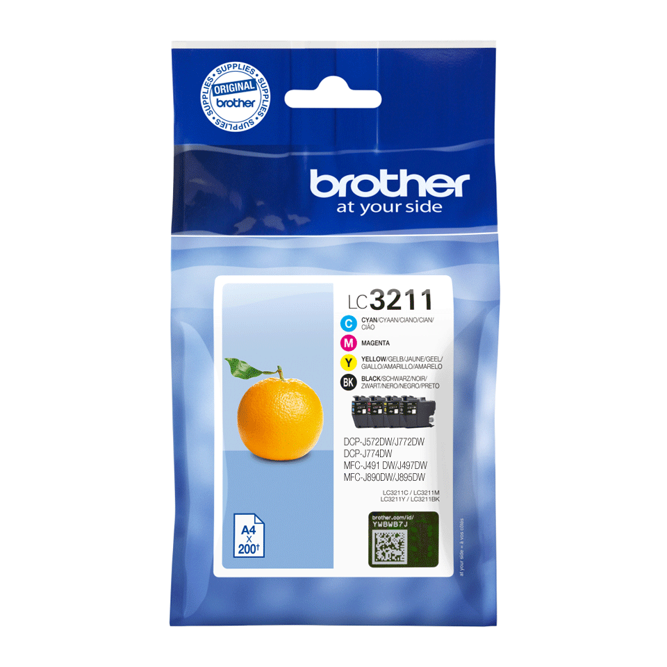 Catégories d'encre Brother LC3211VAL authentiques - paquet économique