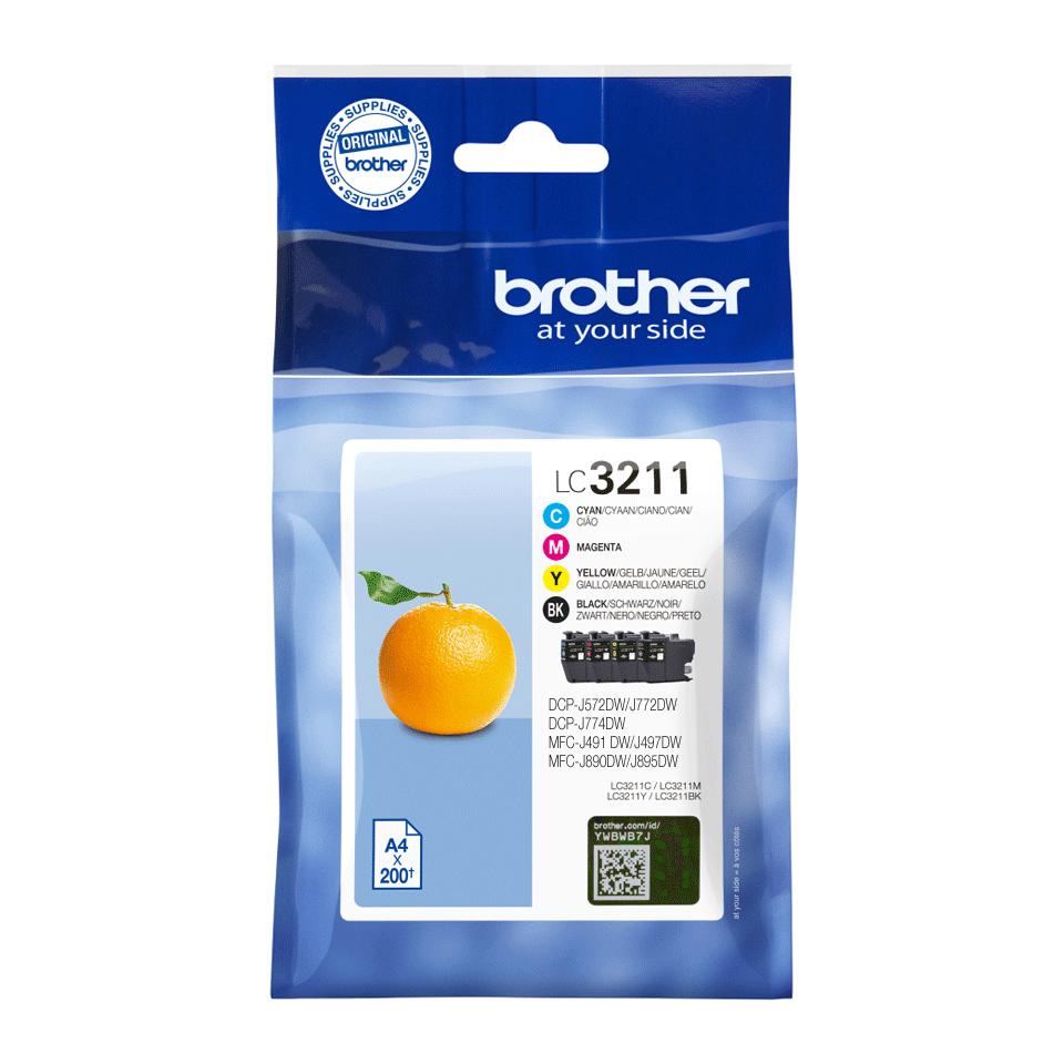Catégories d'encre Brother LC3211VAL authentiques - paquet économique 2