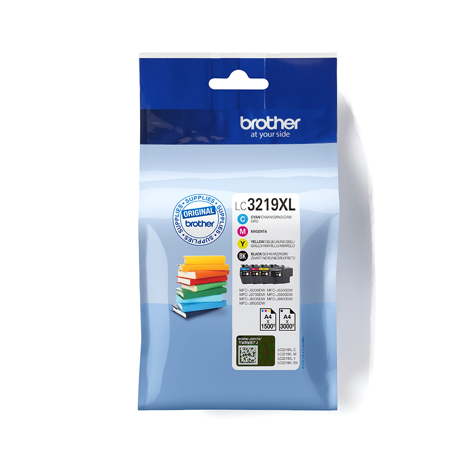 Pack de cartouches d'encre LC3219XLVALBP Brother originales