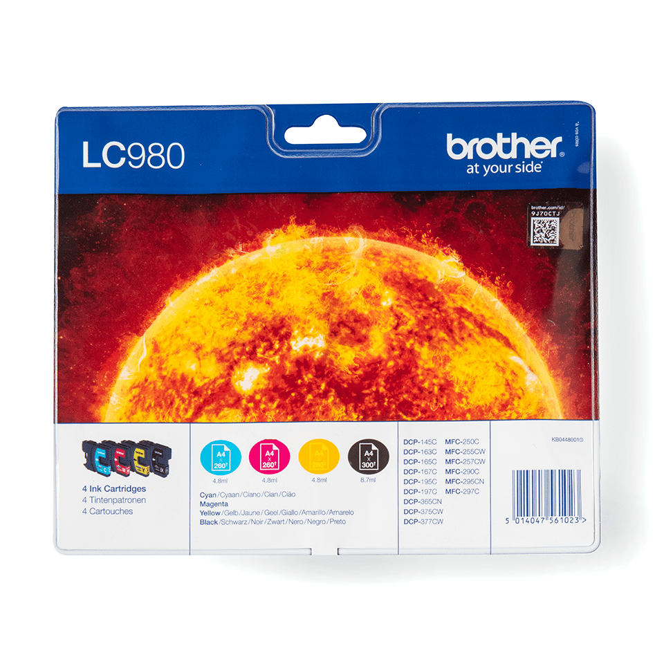 Original LC-980VALBP Tintenpatronen von Brother (Multipack).