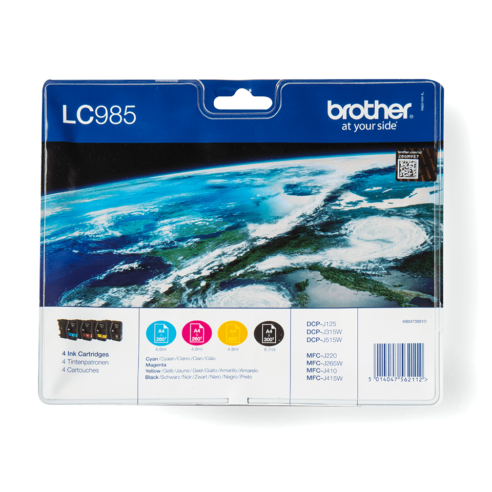 Pack de cartouches d'encre LC985VALBP Brother originales