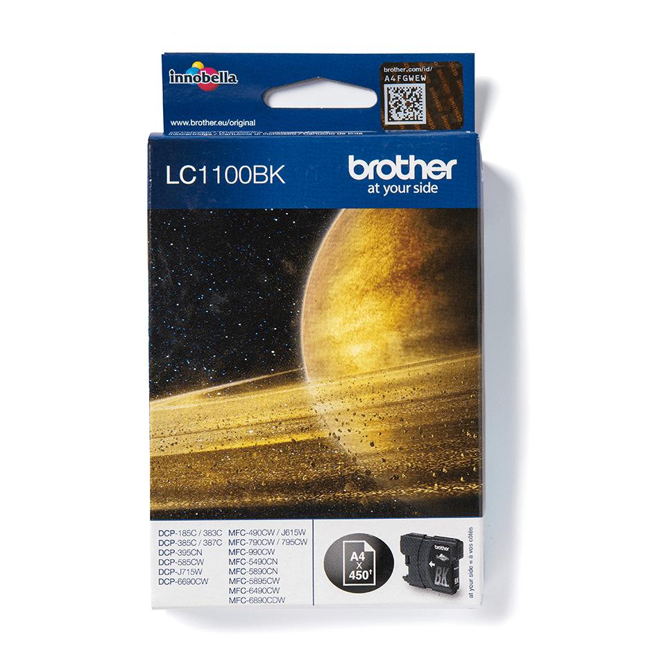 Original LC-1100BK Tintenpatrone von Brother – Schwarz