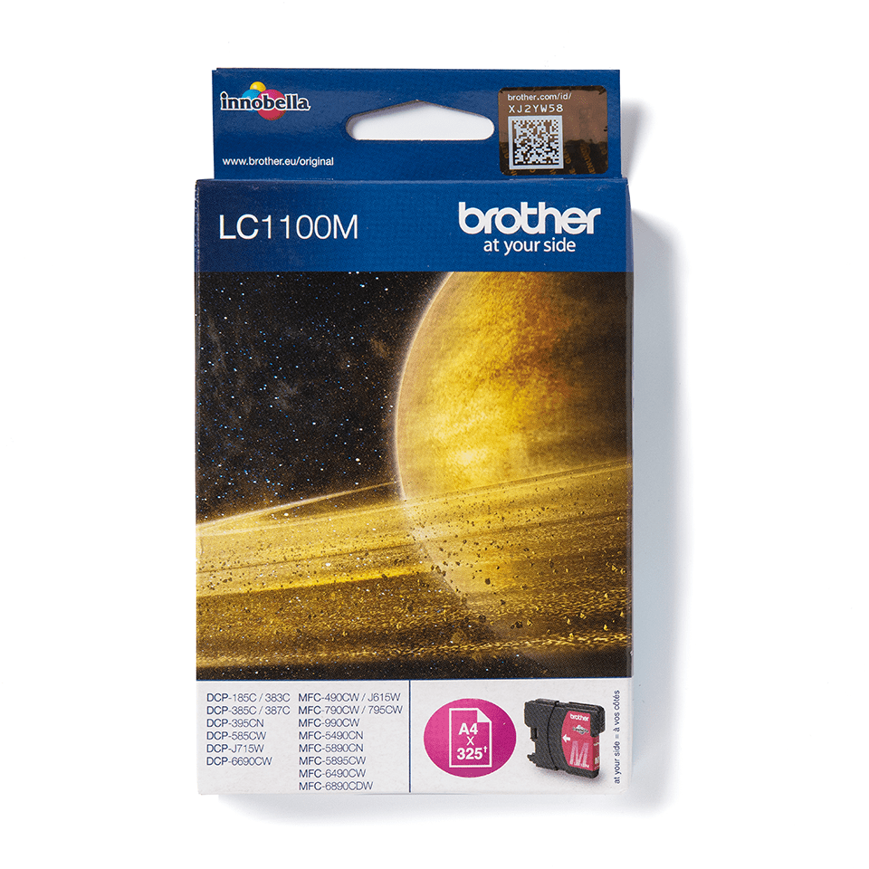 Cartouche d'encre LC1100M Brother originale – Magenta