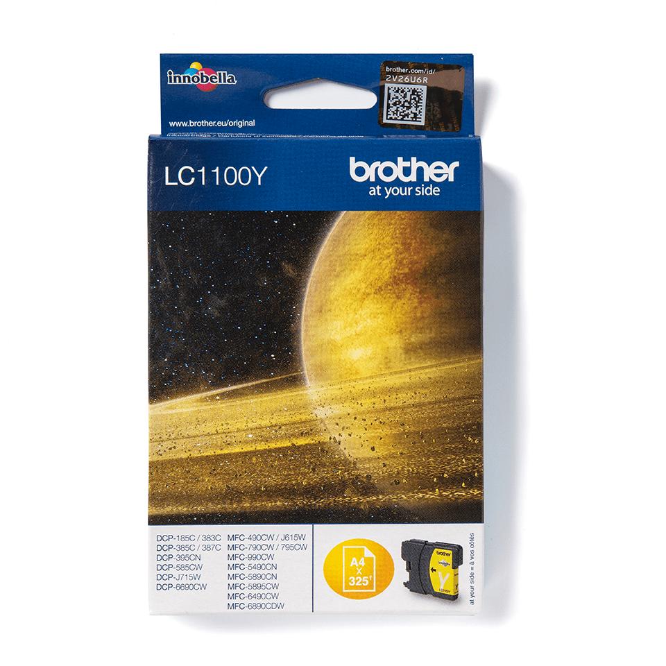 Original Brother LC1100Y Tintenpatrone – Gelb