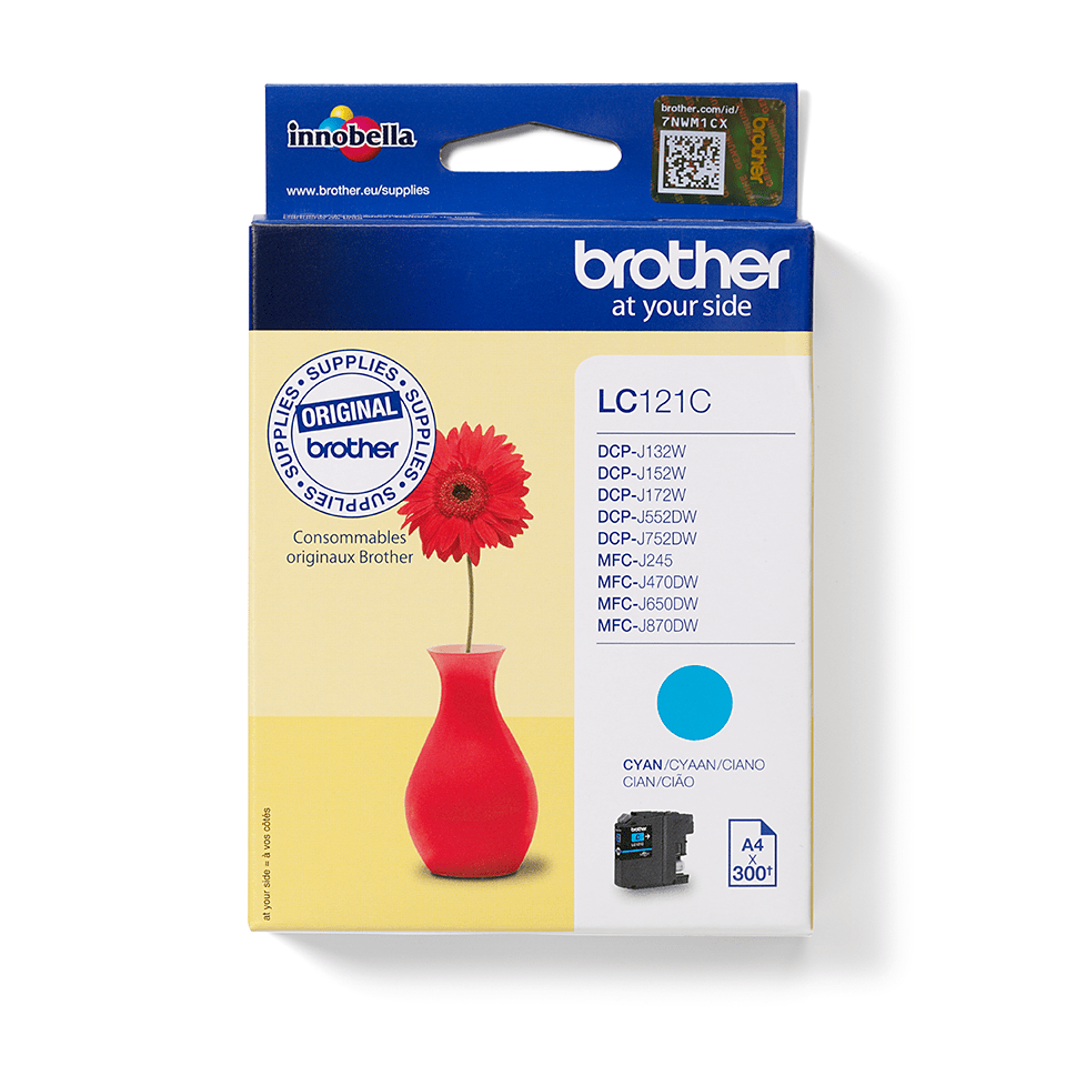 Cartouche d'encre LC121C Brother originale – Cyan