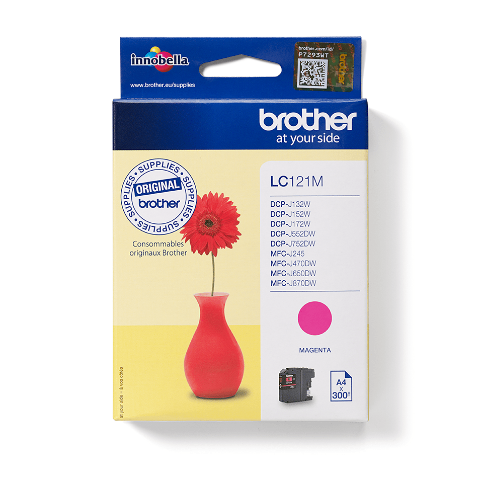 Cartouche d'encre LC121M Brother originale – Magenta