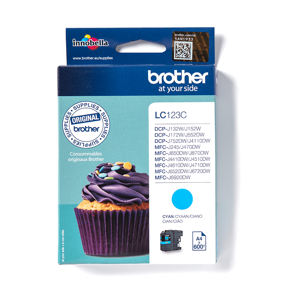 Original Brother LC123C Tintenpatrone – Cyan 0