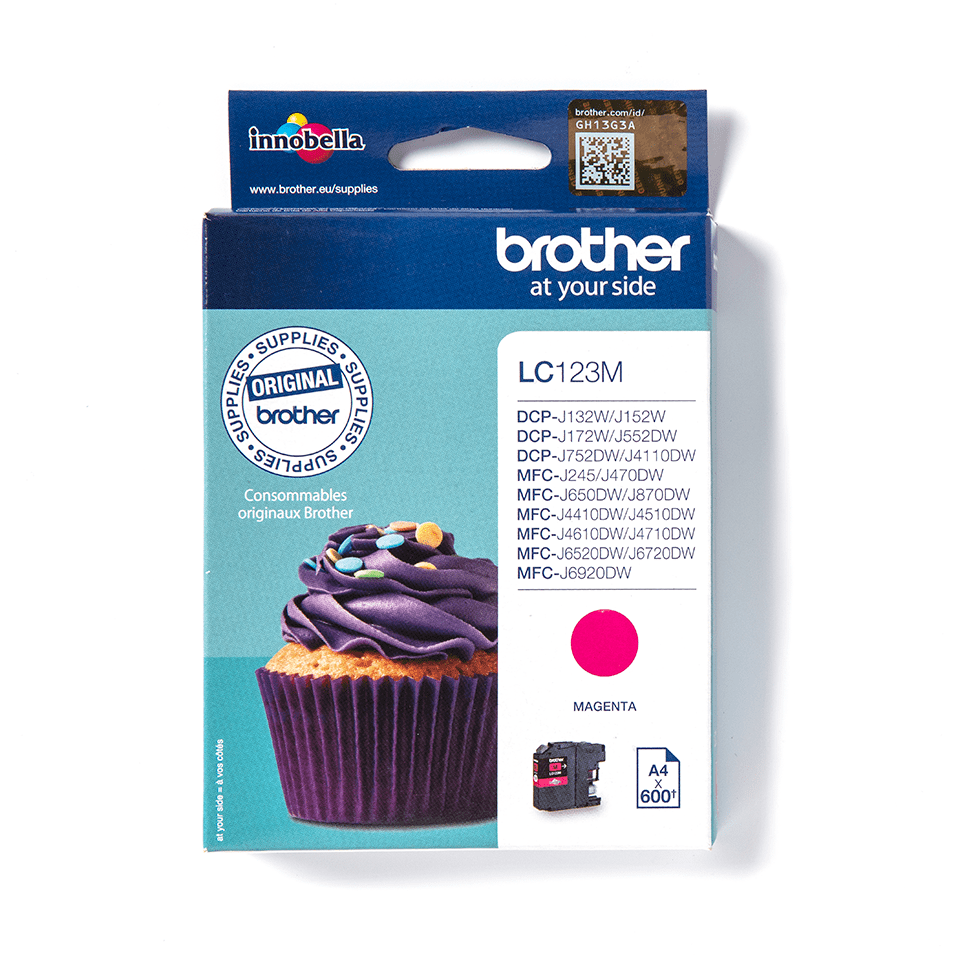 Cartouche d'encre LC123M Brother originale – Magenta