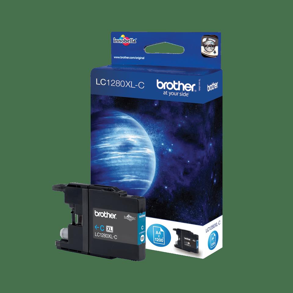 Original LC-1280XLC High Yield Tintenpatrone von Brother – Cyan