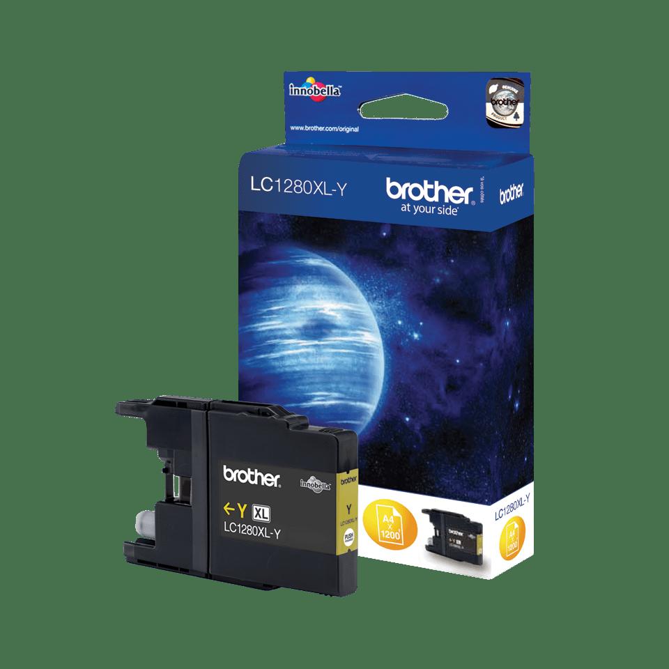 Original LC-1280XLY High Yield Tintenpatrone von Brother – Gelb