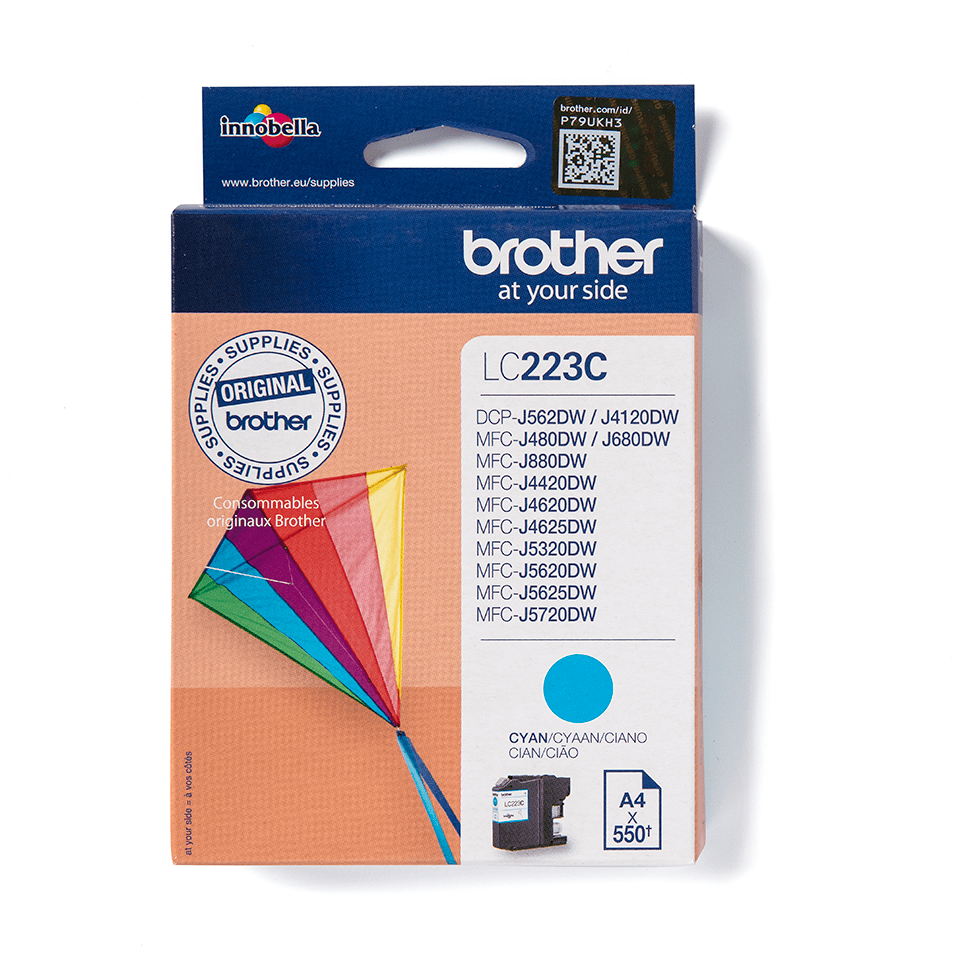 Cartouche d'encre LC223C Brother originale – Cyan