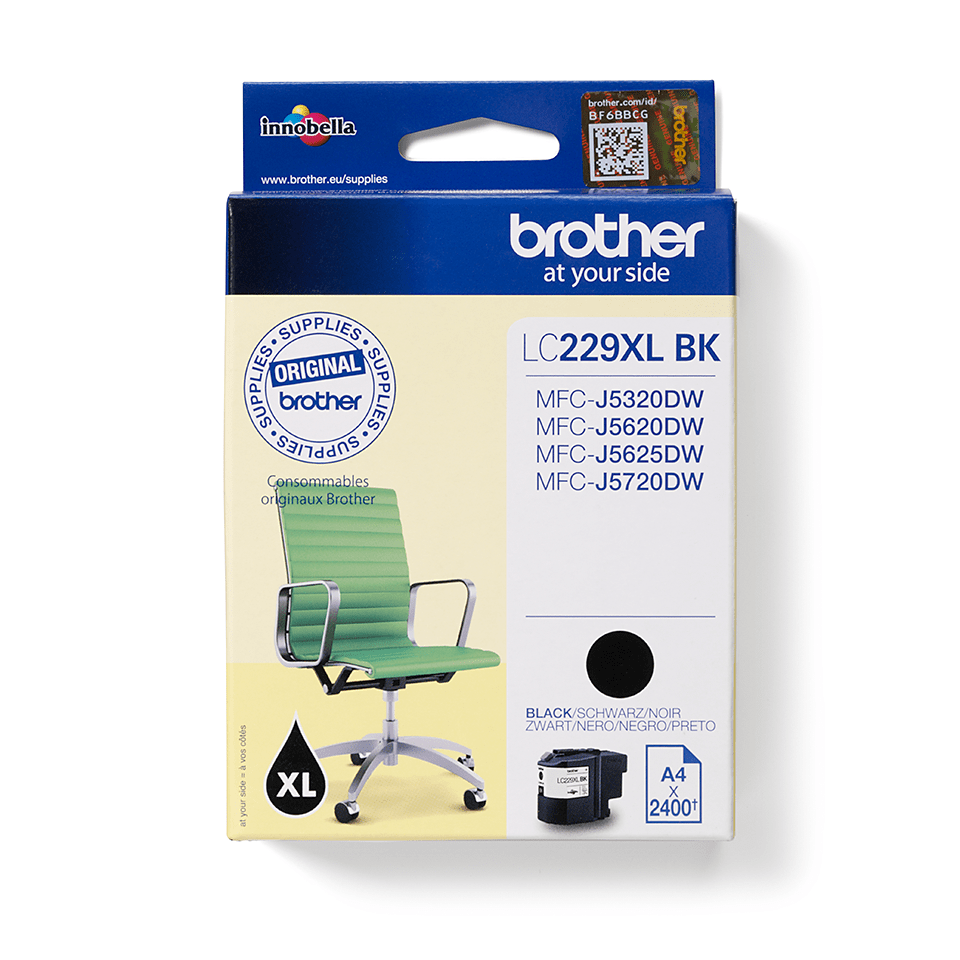 Brother LC-229XL-BK Tintenpatrone – Schwarz