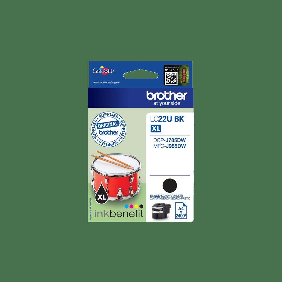 Original LC-22UBK Tintenpatrone von Brother – Schwarz