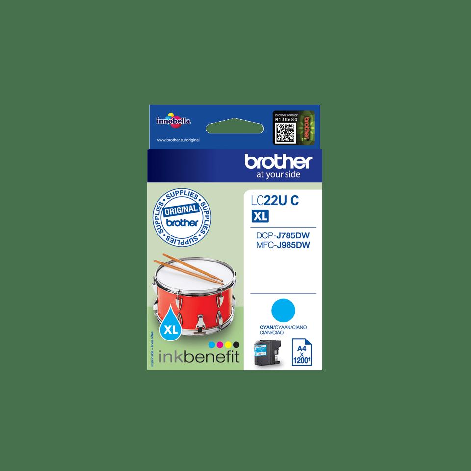 Original LC-22UC Tintenpatrone von Brother – Cyan 2