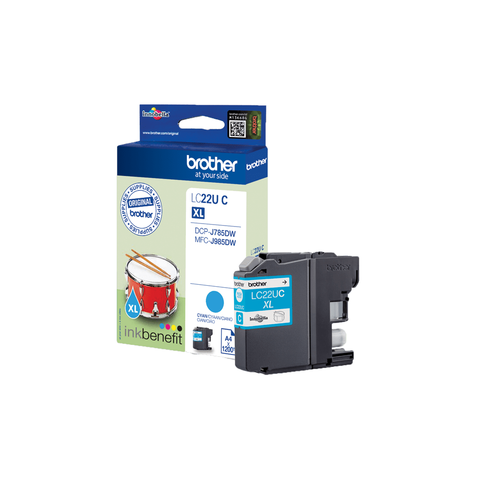Cartouche d'encre LC22UC Brother originale – Cyan 3