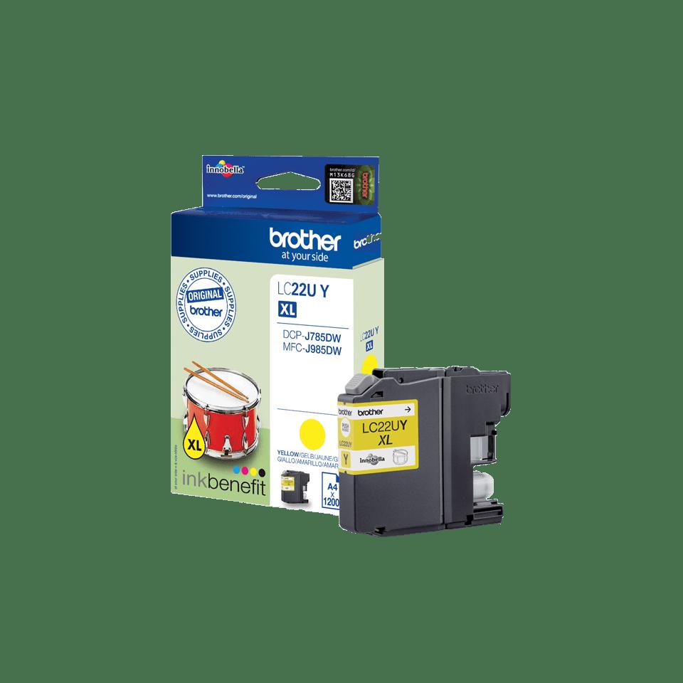 Original LC-22UY Super High Yield Tintenpatrone von Brother – Gelb
