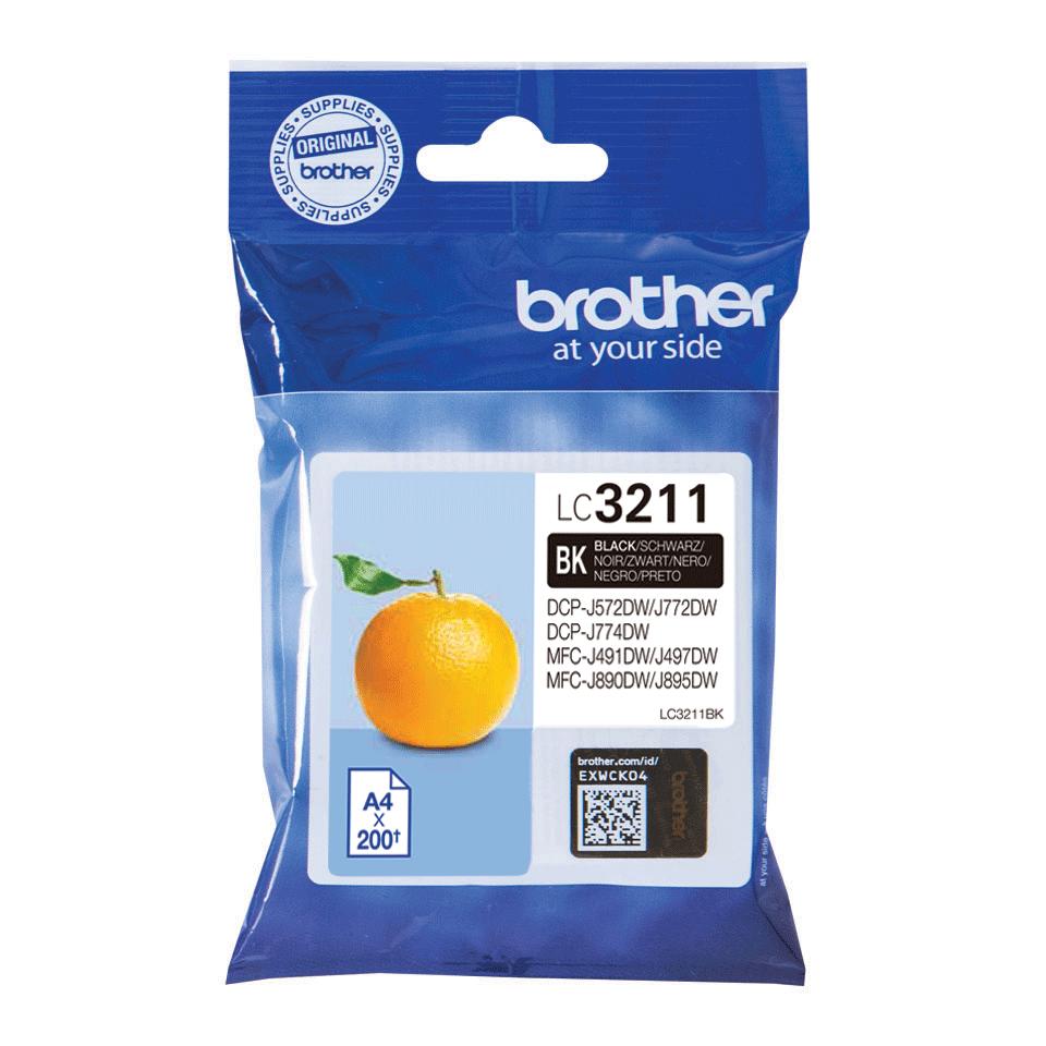 Genuine Brother LC3211BK ink cartridge - Black 1