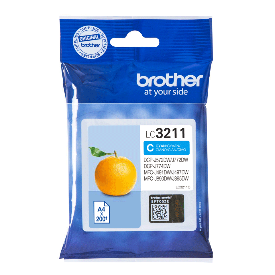 Cartouche d'encre originale Brother LC3211C - Cyan