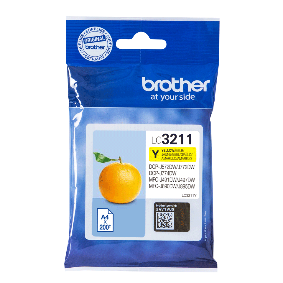 Genuine Brother LC3211Y ink cartridge - yellow 0