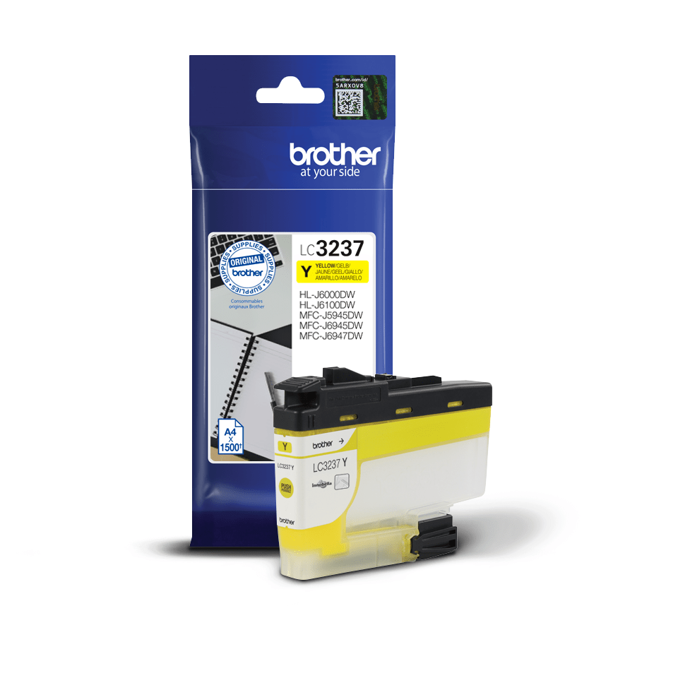 Cartouche d'encre LC3237Y Brother originale, jaune 2