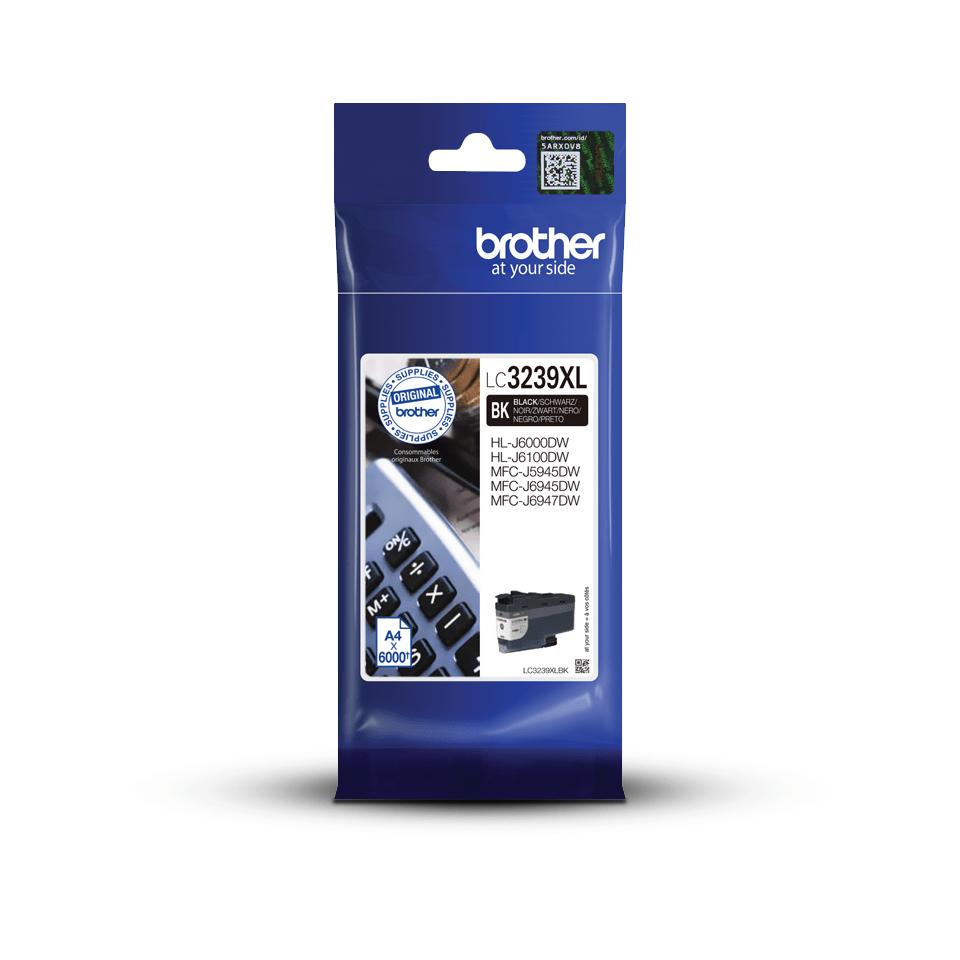 Original Brother LC3239XLBK High Yield Tintenpatrone – Schwarz
