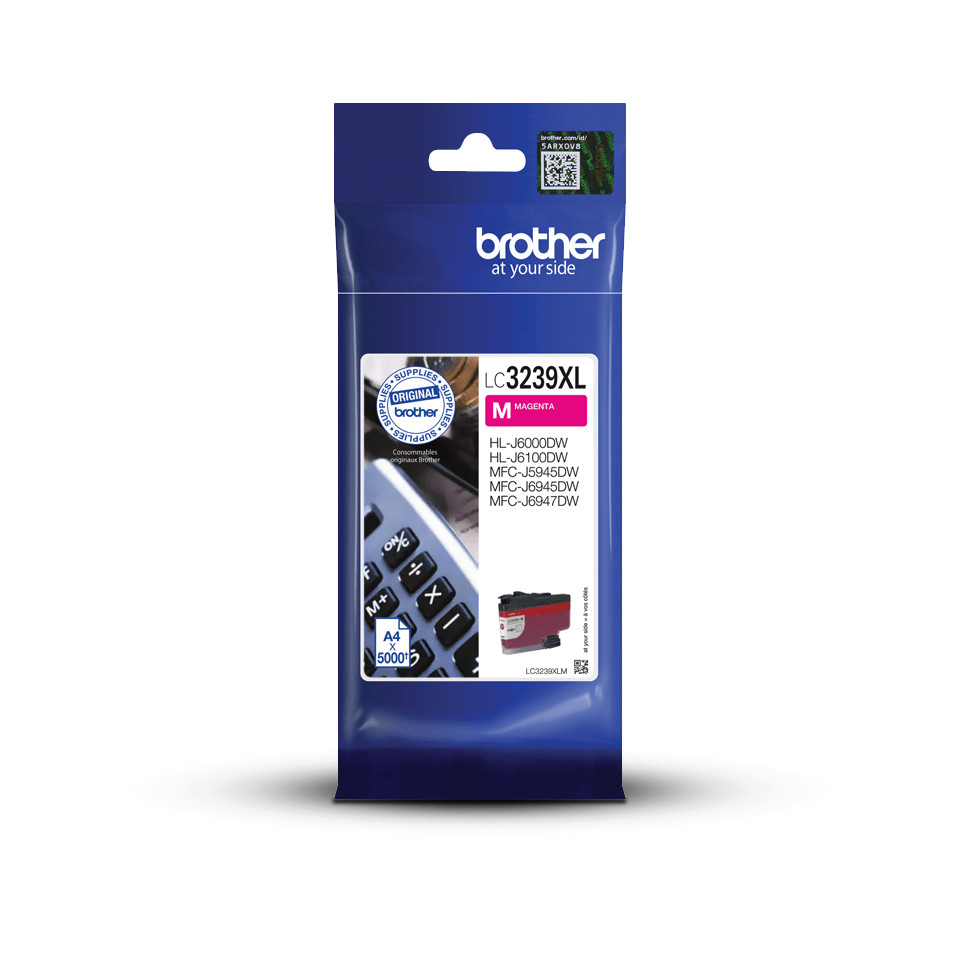 Original Brother LC3239XLM High Yield Tintenpatrone – Magenta