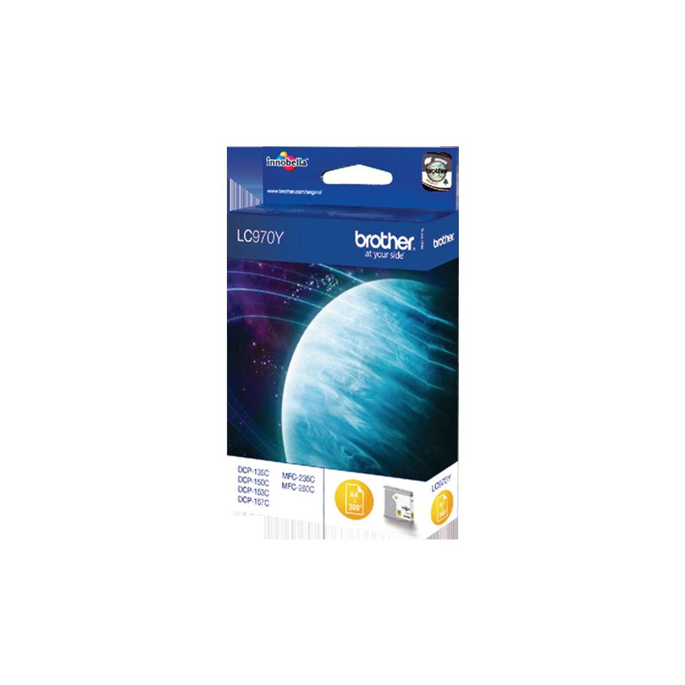 Original LC-970Y Tintenpatrone von Brother – Gelb 2
