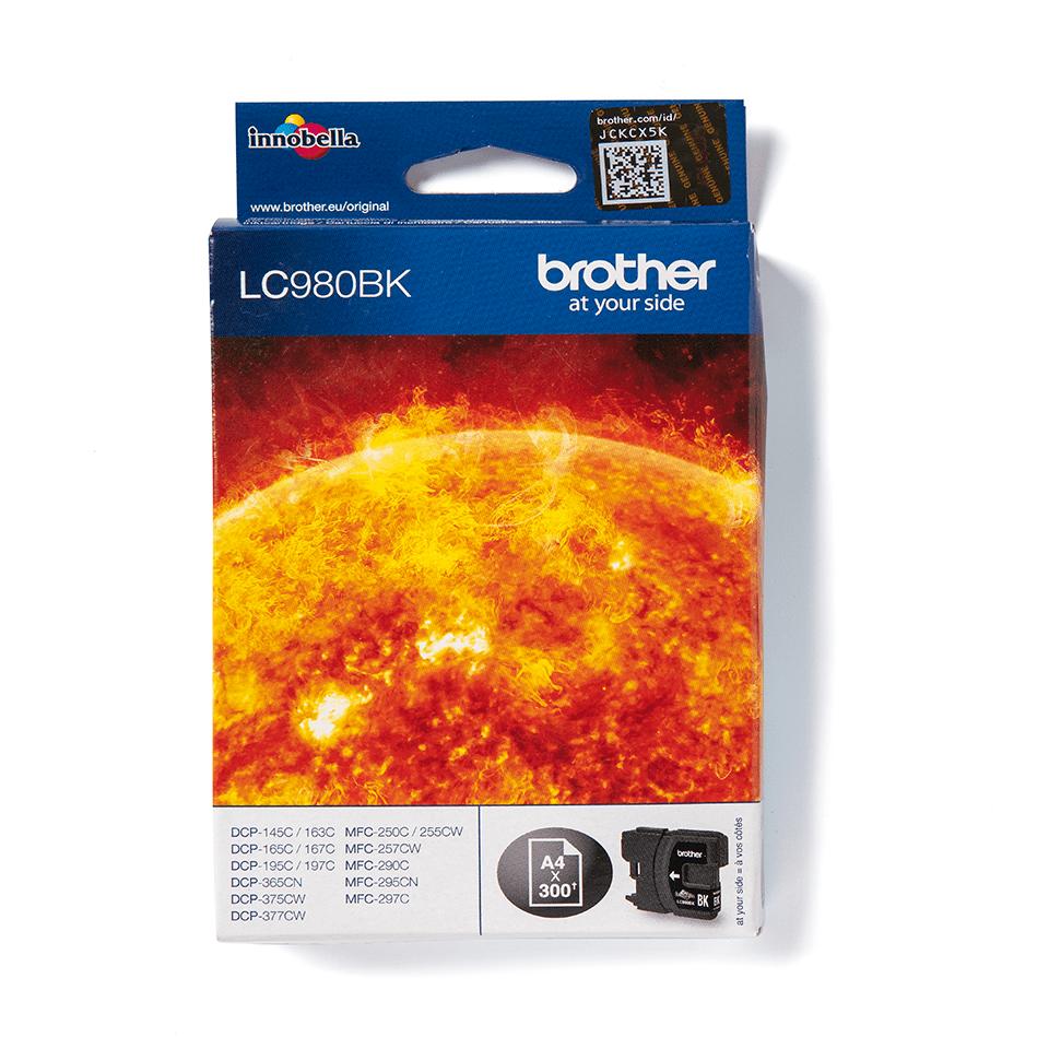 Original LC-980BK Tintenpatrone von Brother – Schwarz