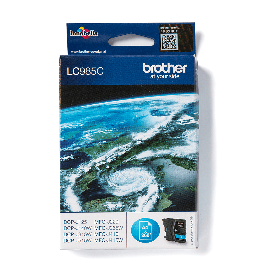 Cartouche d'encre LC985C Brother originale – Cyan