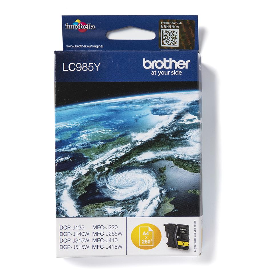 Original LC-985Y Tintenpatrone von Brother – Gelb