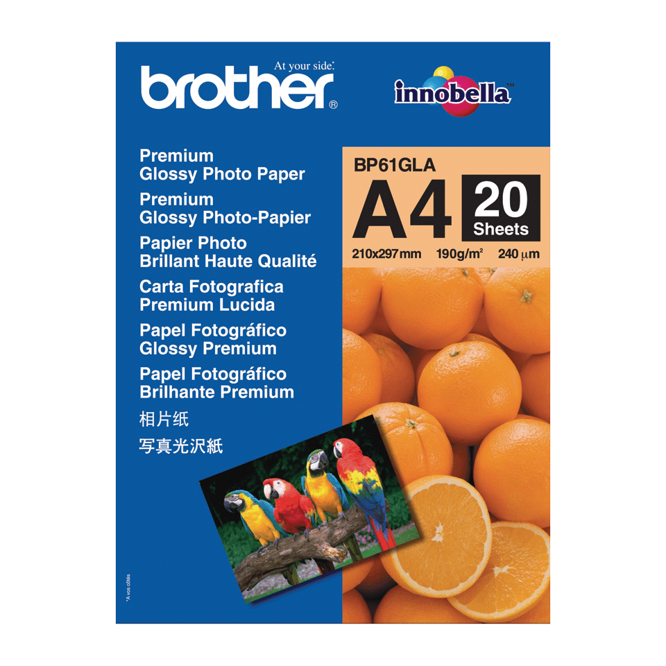 Papier photo brillant BP61GLA A4 Brother original